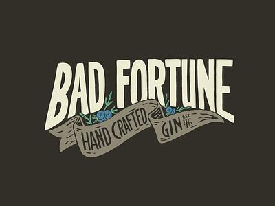 Bad Fortune Gin custom typography brand design ipad pro lettering artist illustrative branding custom illustration typography hand lettering illustration branding