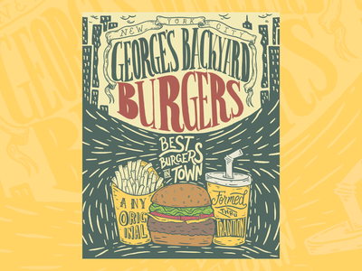 George's Burgers brand design custom lettering custom typography lettering artist advertising procreate illustrative branding typography custom illustration hand lettering illustration