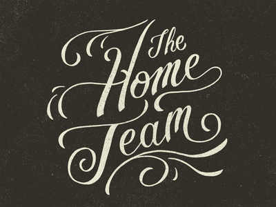 The Home Team illustrative branding brand design vector custom typography procreate ipad pro lettering artist typography hand lettering illustration