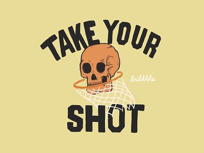 Take Your Shot branding debut procreate ipad pro illustrator lettering artist first shot dribble shot custom illustration hand lettering typography design illustration