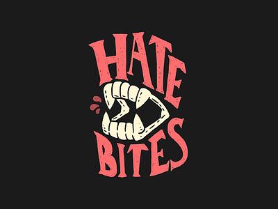 Hate Bites graphic design illustrative branding branding hand lettering typography illustration
