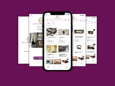 HOG furniture Mobile App screen