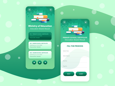 Education Board Result App Concept