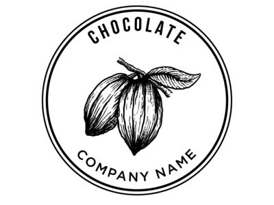 Chocolate Blackandwhite Badge Vintage