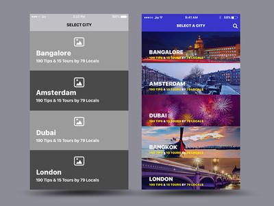 Travel App Select City