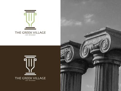The Greek Village Logo Design