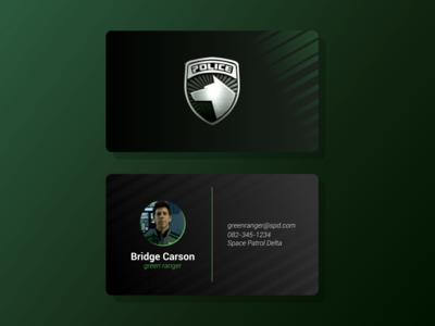 Power Ranger Business Card