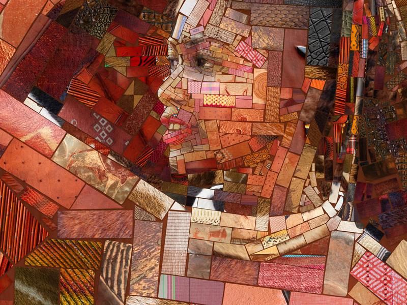 The basket girl for Sasi's (2) collage patchwork ethnic restaurant photomosaic fine art artwork illustration mosaic