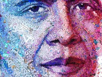 Hail to the Chief: Barack Obama mosaic portrait for the Observer
