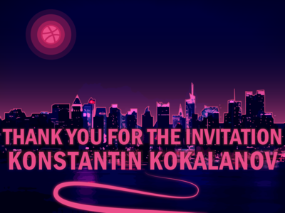 Dribbble Welcome