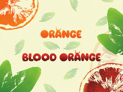 Orange/Blood Orange (If fruit were typefaces)