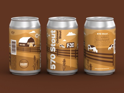 570 Oatmeal Stout packaging mockup 3d model vector craft beer beer art packaging design packaging typography branding design illustration