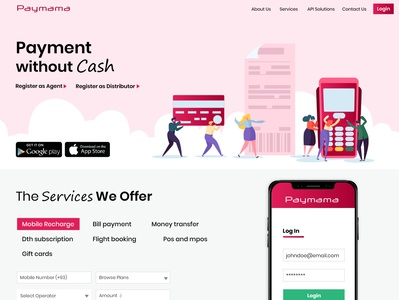 Payment Services Web design