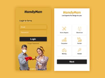 Handyman Mobile UI