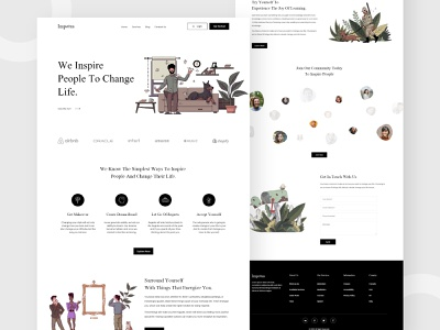 Impetus - inspirational Website UI website design web design mobile design dailyui inspirational inspiration android app design android app minimal branding typography ecommerce app concept ui  ux illustration ui design
