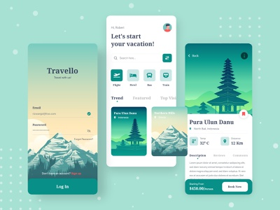 Traveling App android typography ecommerce trip planner travel app booking app splash onboarding mobile design interaction design interaction animation mobile screen trip travel ui design illustration clean app adventure