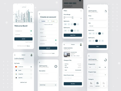 Property Buy Sell Rent Mobile App Design buy sell property minimal 2020 trend interface dailyui ui  ux ecommerce ui design app concept design illustration