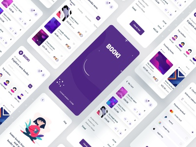 Booki - Book App Store library book cover book ui branding typography interface 2020 trend minimal ecommerce dailyui app concept ui design