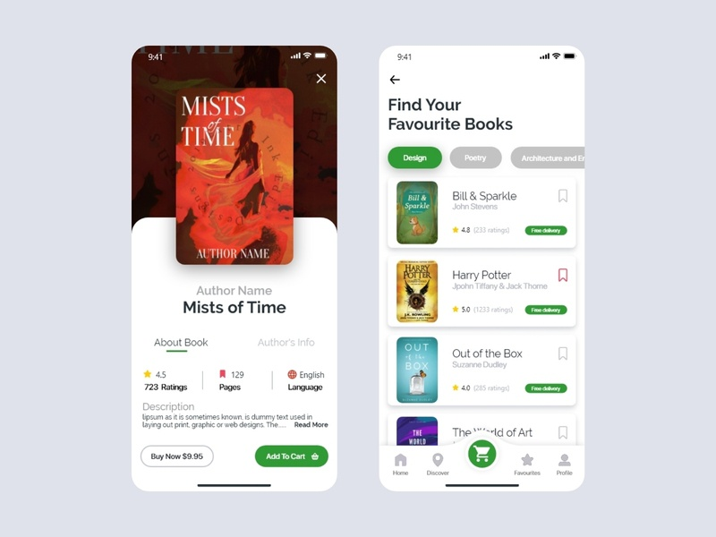 Online Book Store library book store ux ui  ux branding price order interface icon ecommerce illustration uiux ui design ui design app