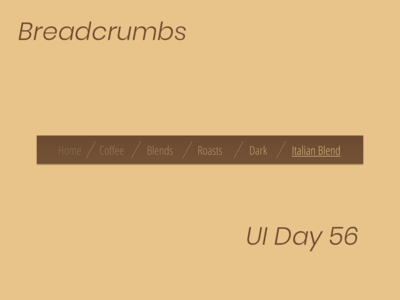 Breadcrumbs Daily UI Day 56