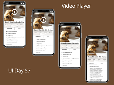 Video Player Daily UI Challenge Day 57