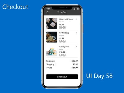 Checkout Daily UI Challenge Day 58