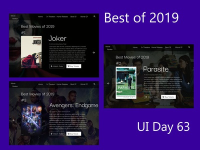 Best of 2019 Daily UI Challenge Day 63