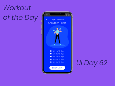 Workout of the Day Daily UI Challenge Day 62