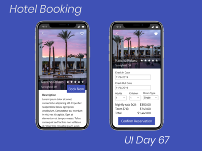 Hotel Booking Daily UI Challenge Day 67