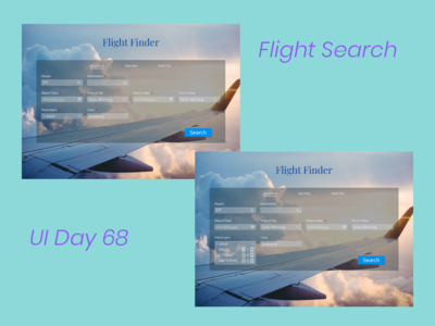 Flight Search Daily UI Challenge Day 68