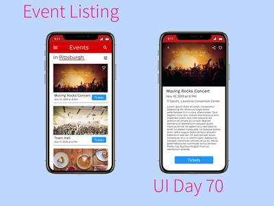 Event Listing Daily UI Challenge Day 70