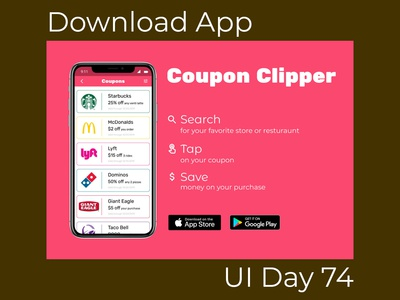 Download App Daily UI Challenge Day 74