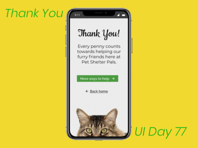 Thank You Daily UI Challenge Day 77