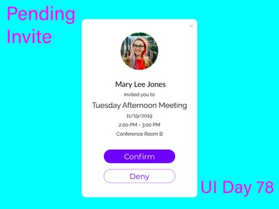 Pending Invite Daily UI Challenge Day 78