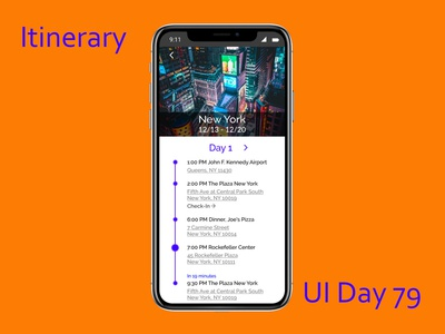 Itinerary Daily UI Challenge Day 79