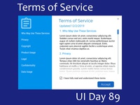 Terms of Service Daily UI Challenge Day 89