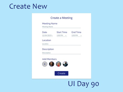 Create New Daily UI Challenge Day 90