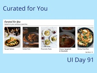Curated for You Daily UI Challenge Day 91