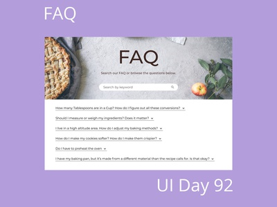 FAQ Daily UI Challenge Day 92