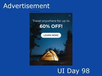 Advertisement Daily UI Challenge Day 98