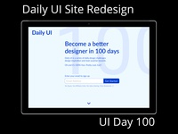 Redesign of Daily UI Home Page Daily UI Challenge Day 100
