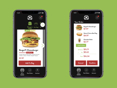 Burgerfi Ordering App Concept