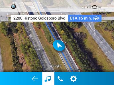 BMW Autonomous Vehicle UI Screen 2