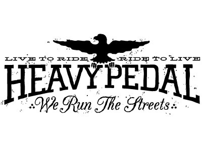 Run The Streets illustration typography heavypedal fixed gear