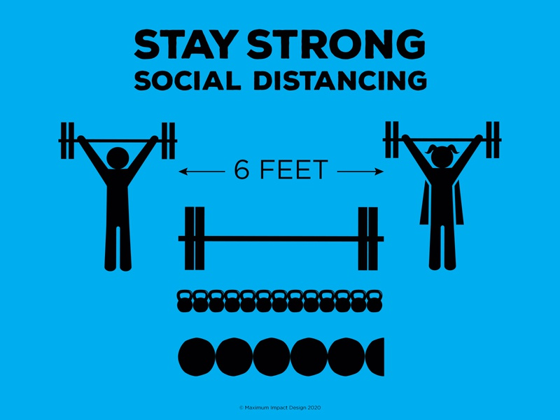 Social Distancing CrossFit style 5 1/2 wall balls apart