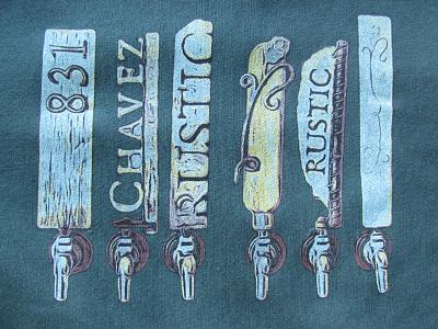 Sante Adairius Rustic Ales T shirt rustic brewery capitola t-shirt sante adairius beer