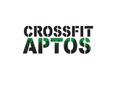 Crossfit Aptos Logo sports type logo aptos crossfit redwoods