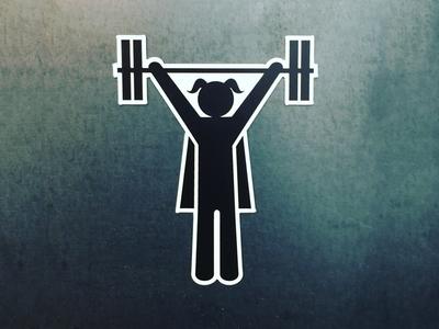 Badass Strong Girl Magnet santa cruz strength barbells strong girl badass crossfit