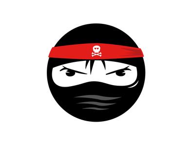 Badass Ninja sticker mule button badass skull ninja