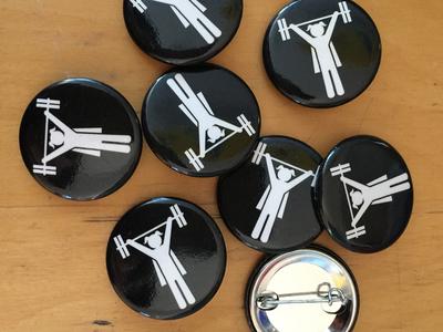Girl Lifter sticker mule button strong women girls barbells lifter crossfit